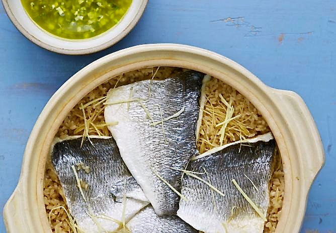 Nikkei Sea-Bream, Yuzu & Green Jalapeño Rice Cooked in Clay Pot